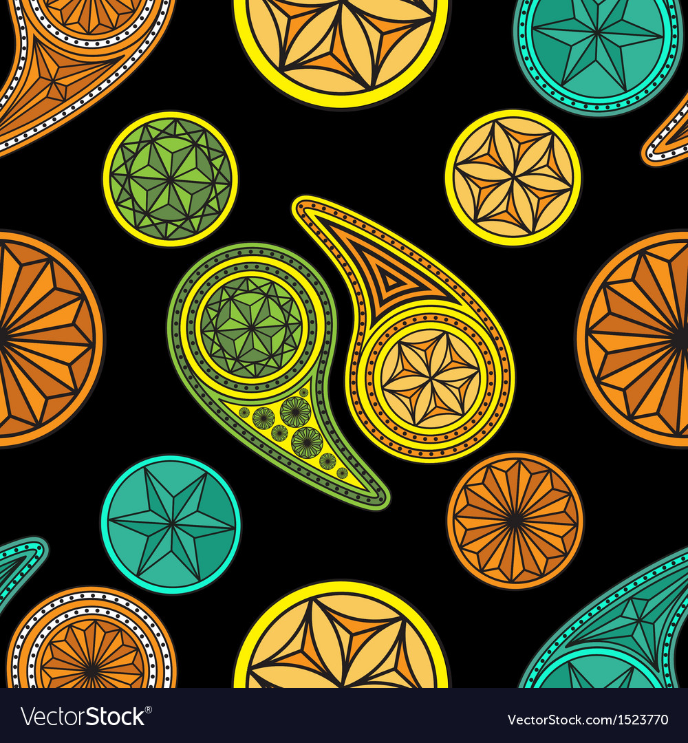 Seamless pattern based on traditional asian vector | Price: 1 Credit (USD $1)
