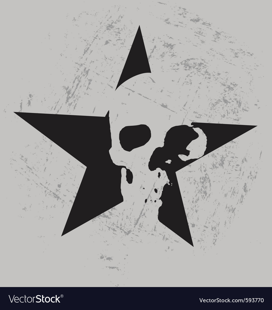 Star skull vector | Price: 1 Credit (USD $1)