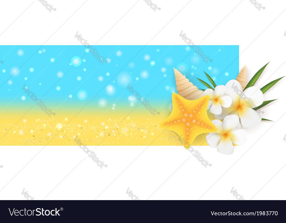 Summer horizontal banner vector | Price: 1 Credit (USD $1)