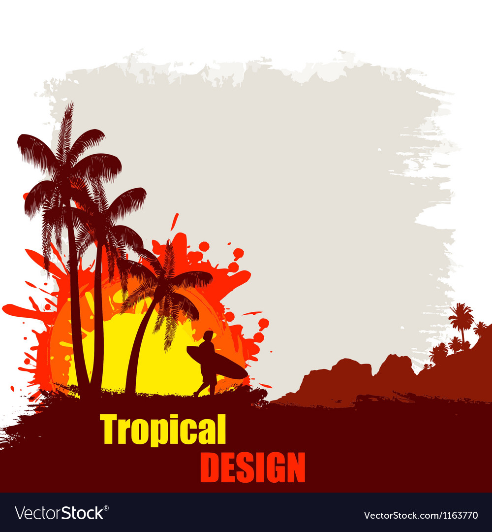 Tropical design poster vector | Price: 1 Credit (USD $1)