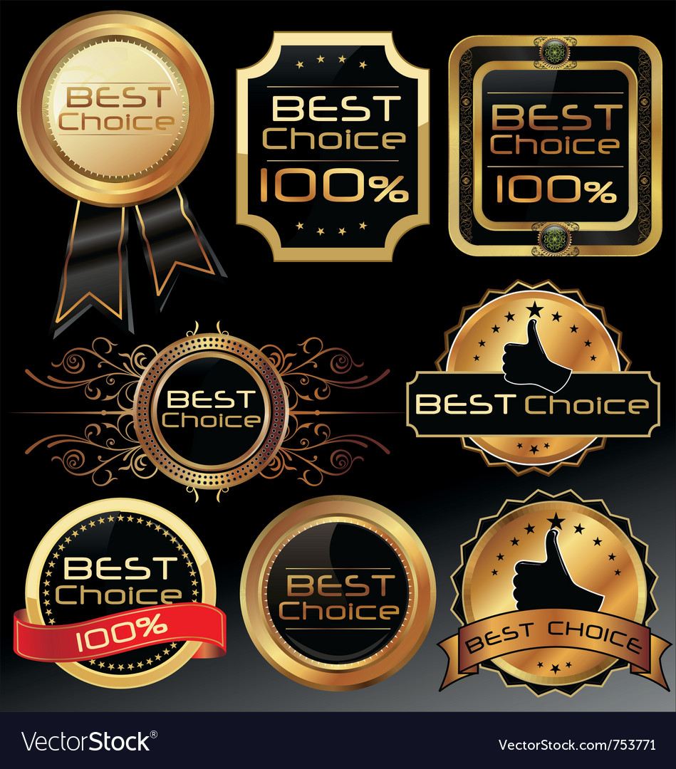 Best choice elegant labels vector | Price: 1 Credit (USD $1)