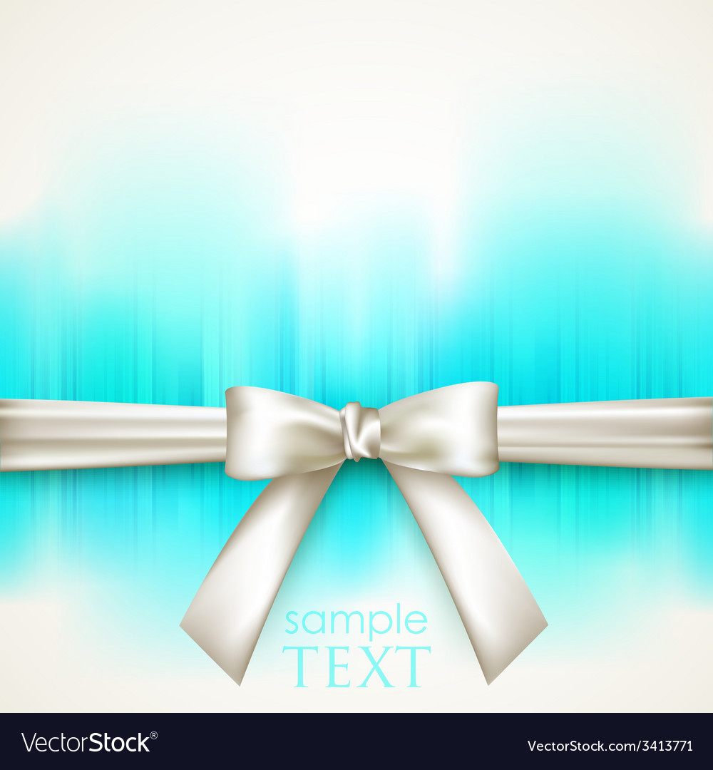Blue background with white bow vector   Price: 1 Credit (USD $1)