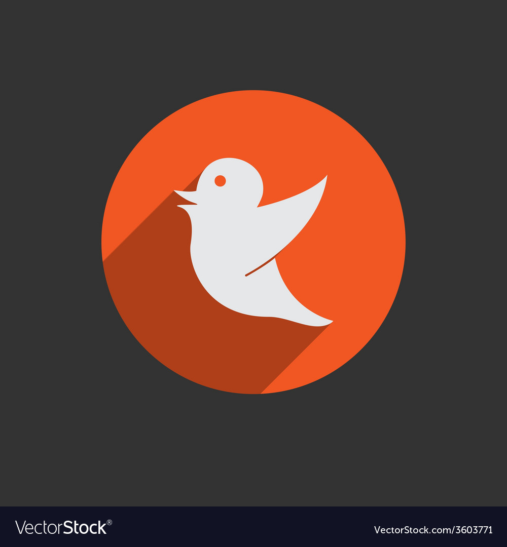 Drawing of a bird holding for social media tag vector | Price: 1 Credit (USD $1)