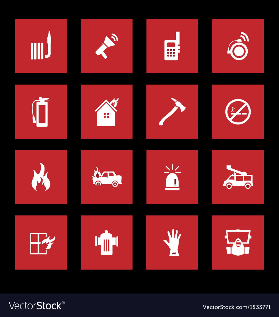Fire services icons vector   Price: 1 Credit (USD $1)