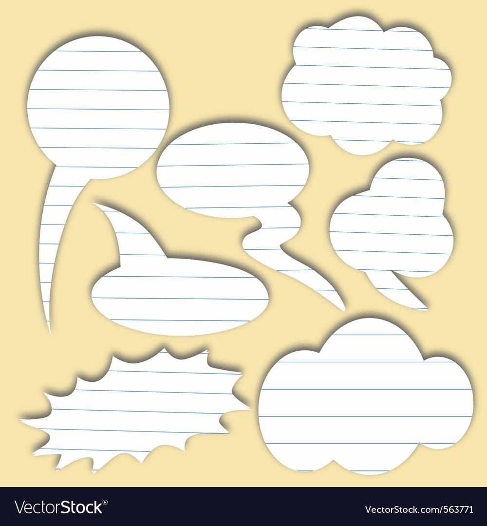 Paper speech bubble vector | Price: 1 Credit (USD $1)