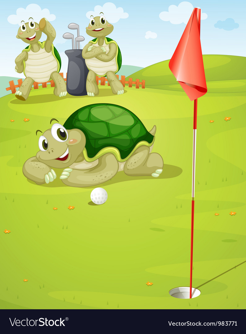 Tortoise golf vector | Price: 3 Credit (USD $3)