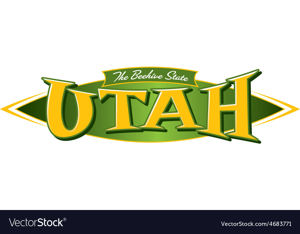 Utah the beehive state vector | Price: 1 Credit (USD $1)