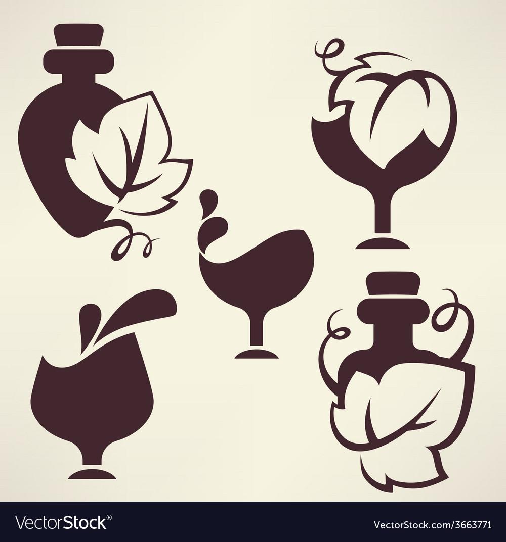 Wine emblems vector