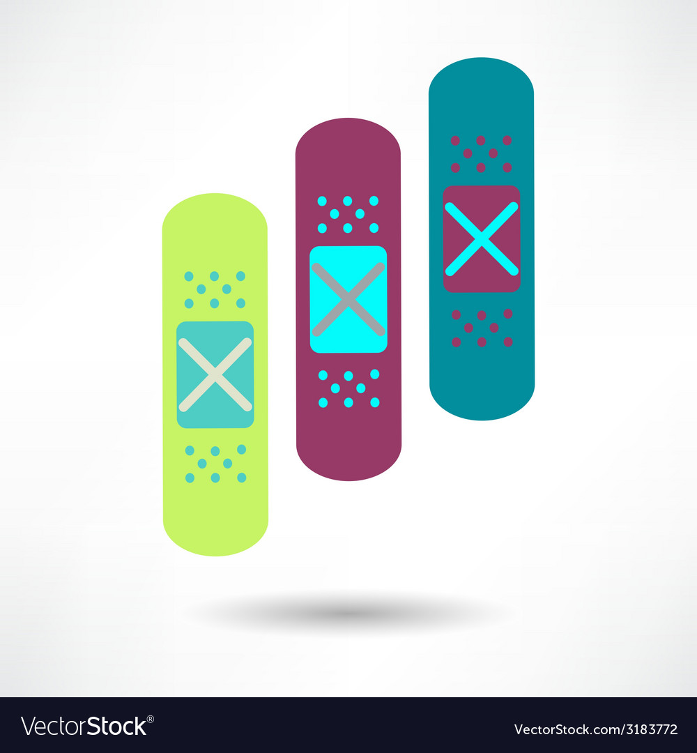 Bandage health amp medical icon vector | Price: 1 Credit (USD $1)