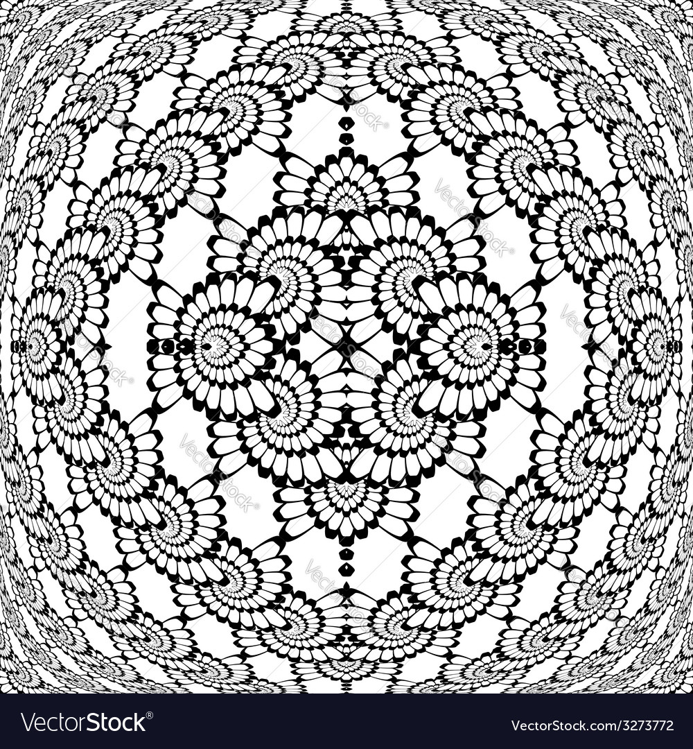 Design monochrome decorative interlaced pattern vector | Price: 1 Credit (USD $1)