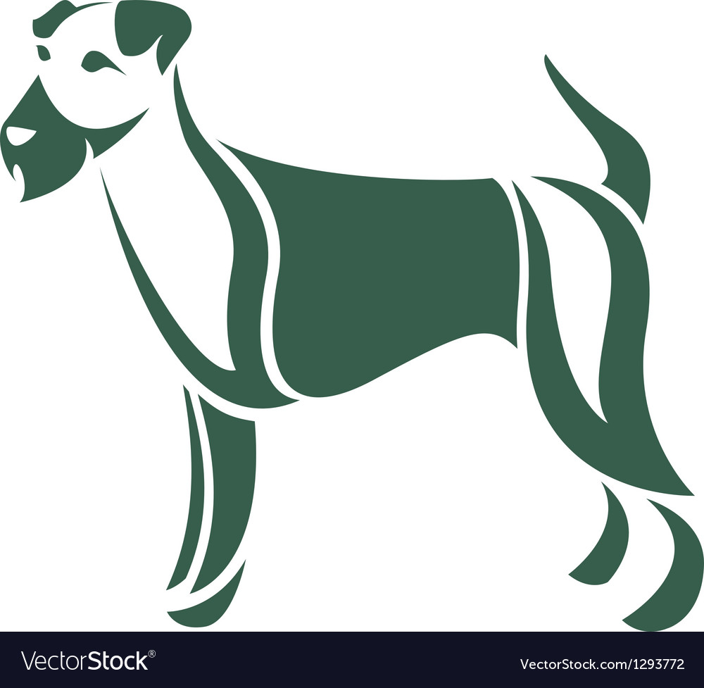 Dog irish terrier vector | Price: 1 Credit (USD $1)