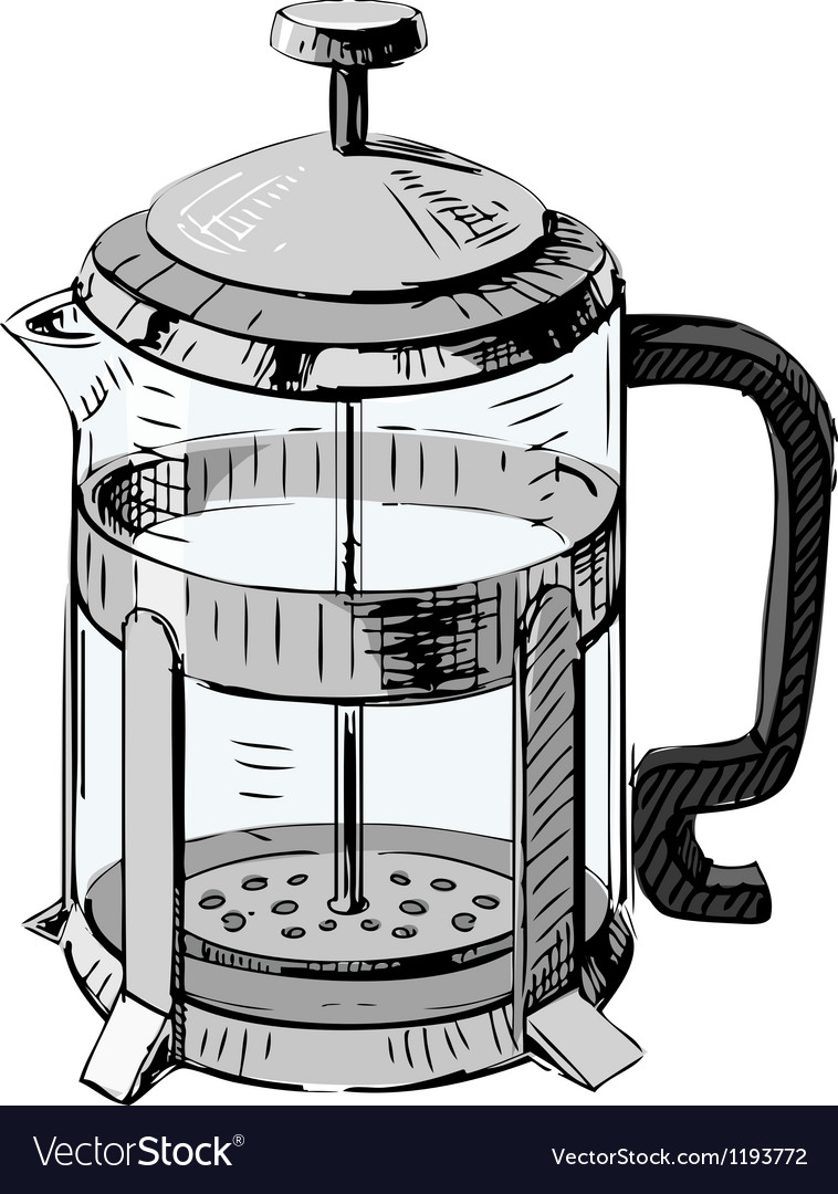 French press tea pot vector | Price: 1 Credit (USD $1)