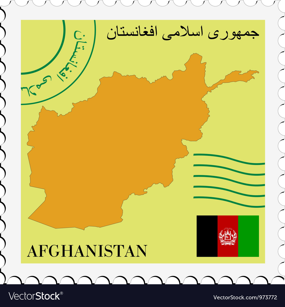 Mail to-from afghanistan vector | Price: 1 Credit (USD $1)