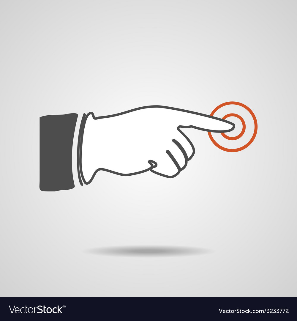 Pointing finger eps10 vector   Price: 1 Credit (USD $1)