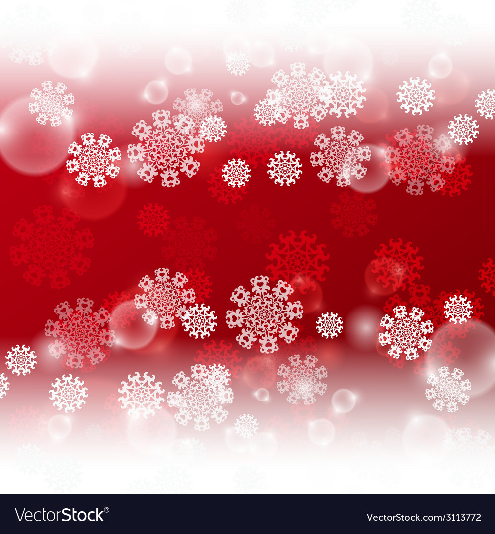 Red background with snowflakes vector | Price: 1 Credit (USD $1)