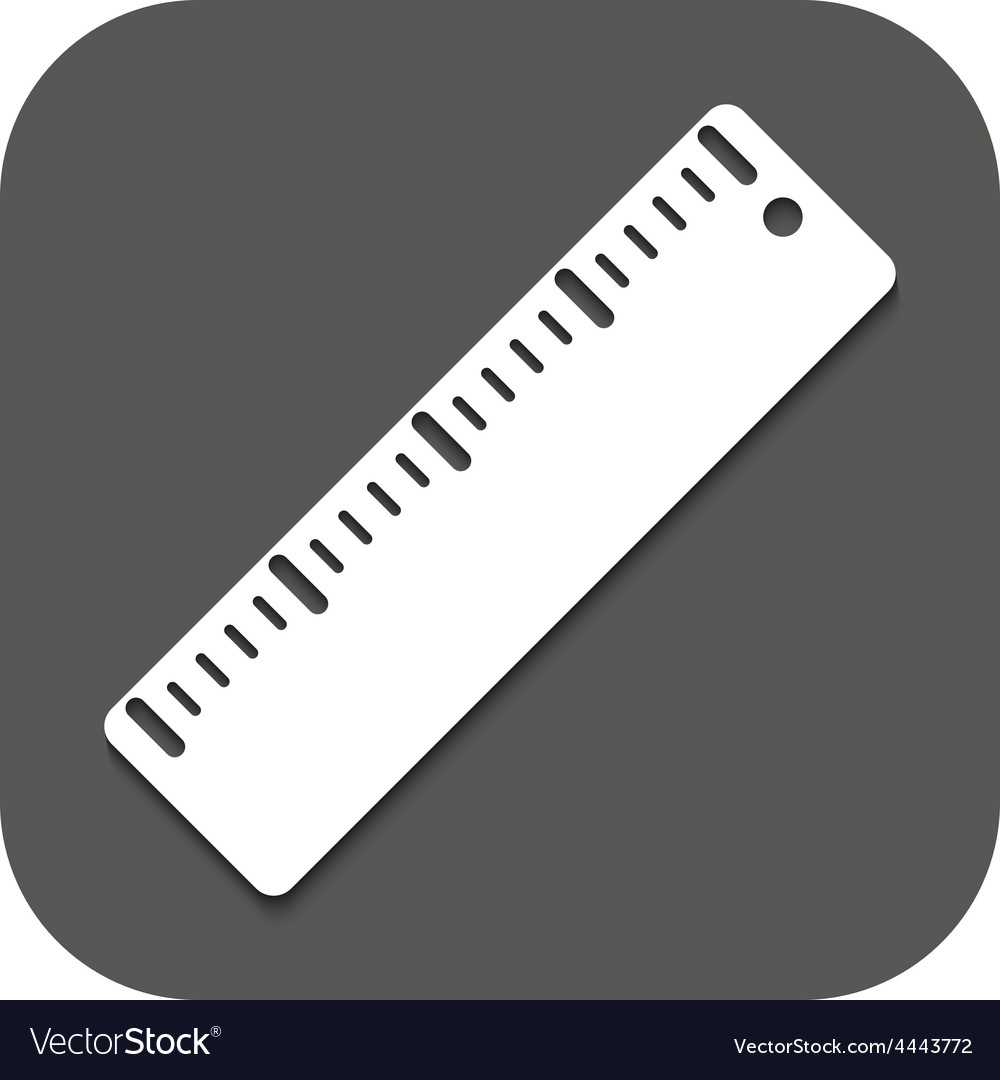 The ruler icon ruler symbol flat vector | Price: 1 Credit (USD $1)