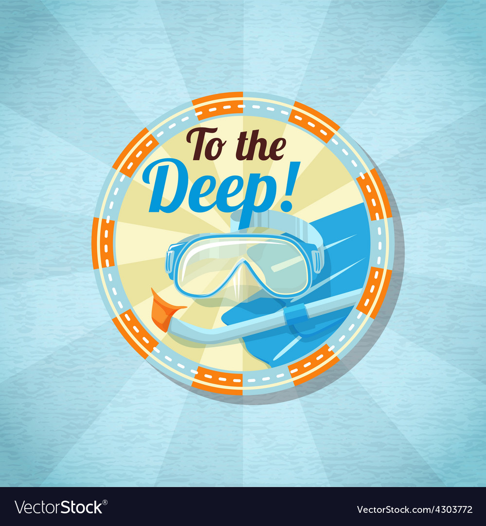 Summer diving stuff on the sand vector | Price: 3 Credit (USD $3)