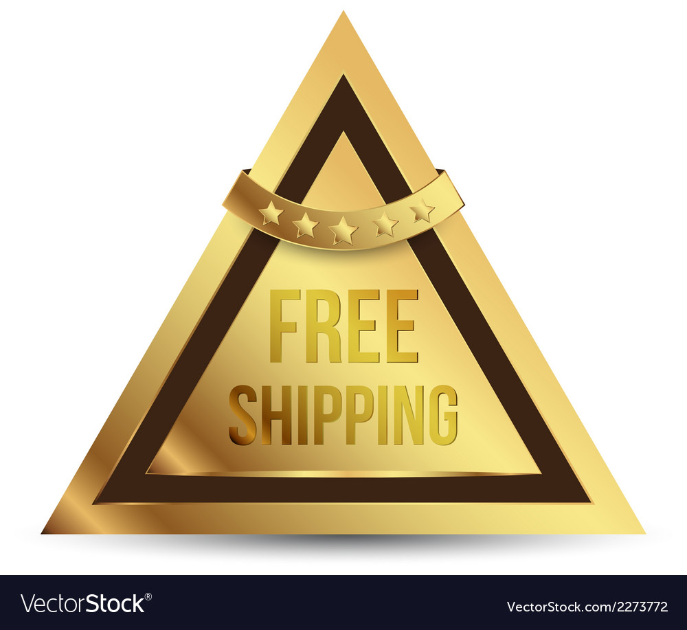 Triangles gold tag free shipping vector | Price: 1 Credit (USD $1)