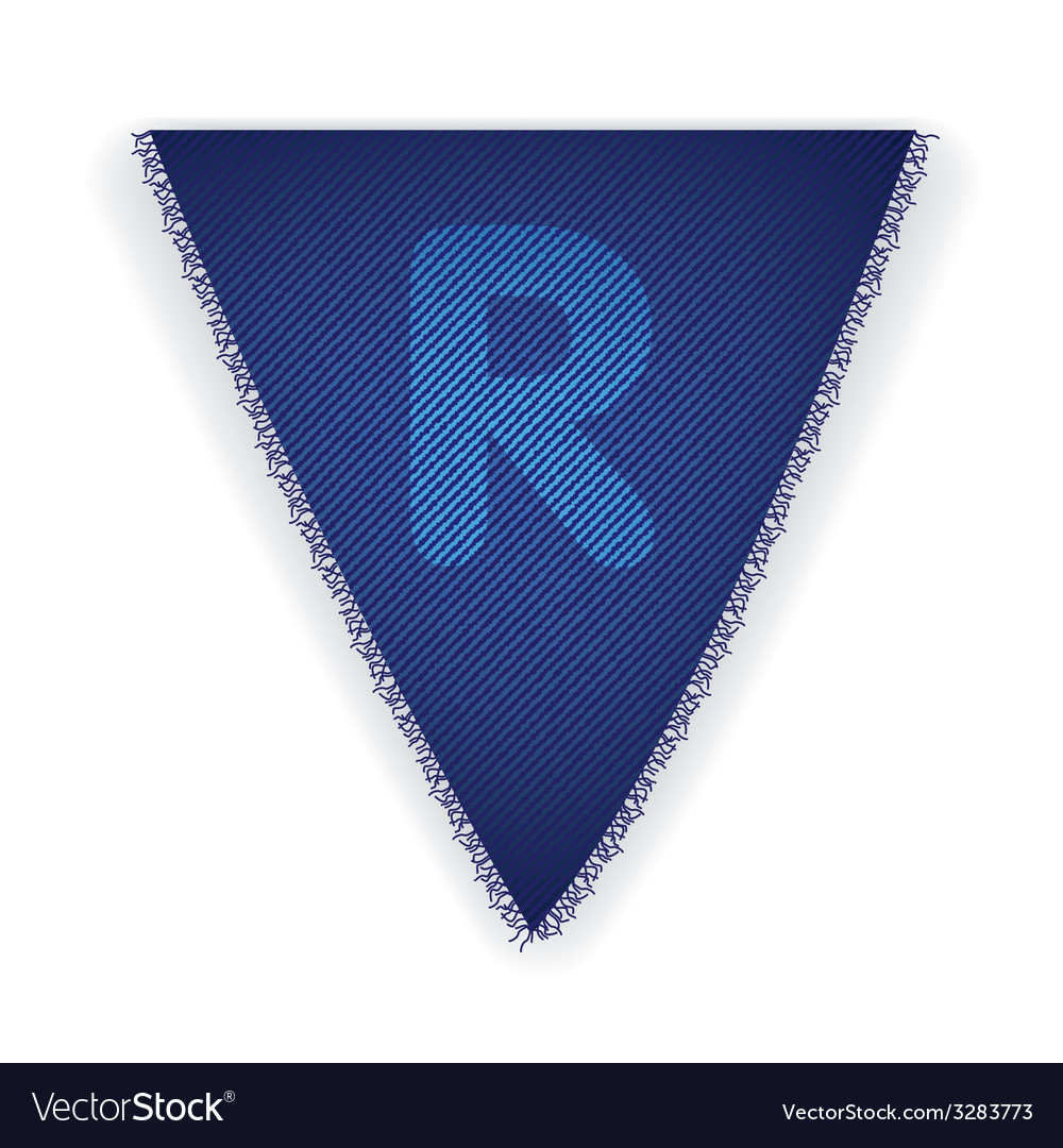 Bunting flag letter r vector | Price: 1 Credit (USD $1)