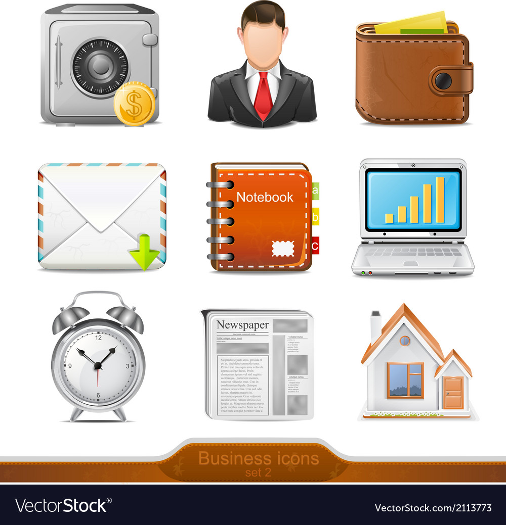 Businesss icons set 2 vector | Price: 1 Credit (USD $1)