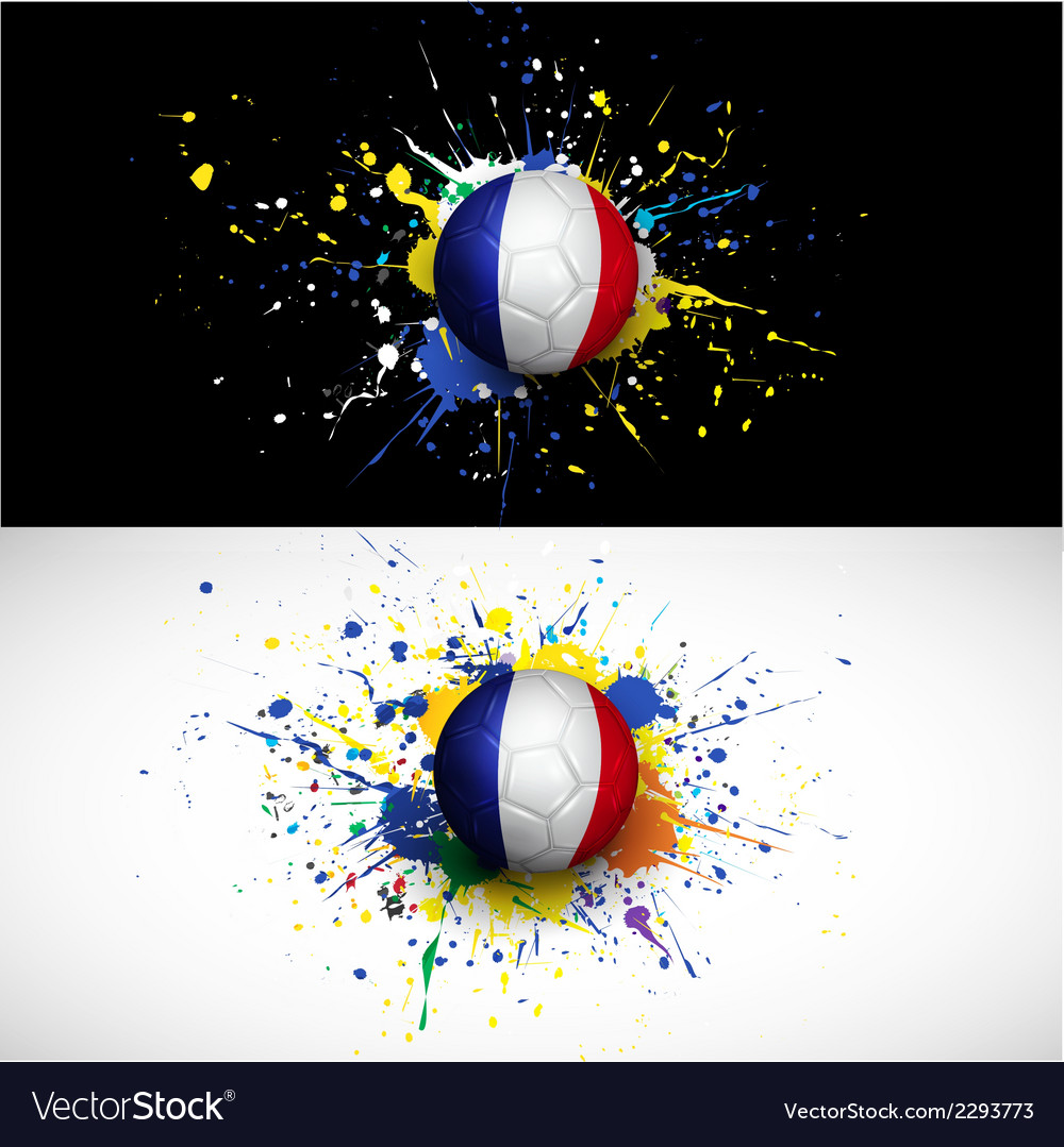 France flag with soccer ball dash on colorful vector | Price: 1 Credit (USD $1)