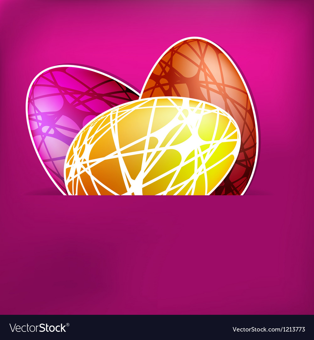 Happy easter card eps 8 vector | Price: 1 Credit (USD $1)