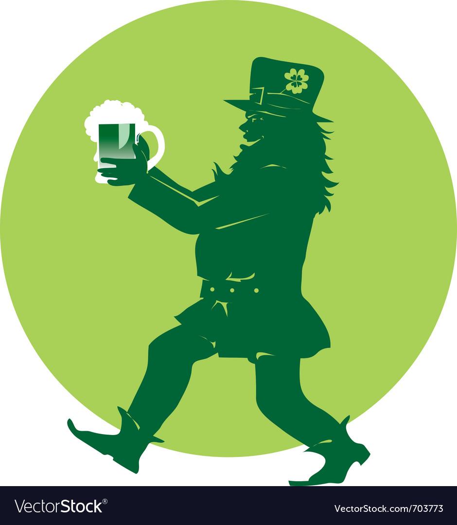 Leprechaun bringing beer vector | Price: 1 Credit (USD $1)