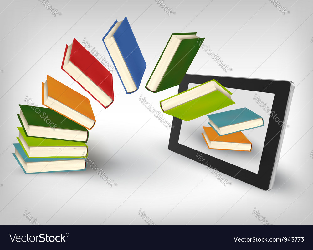 Library in e book vector | Price: 1 Credit (USD $1)