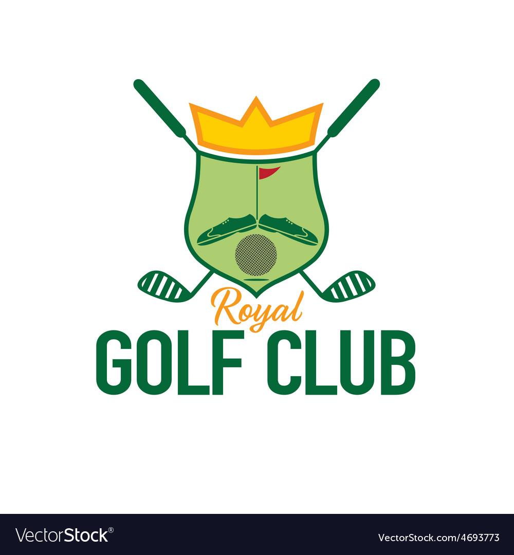 Royal golf club crest vector | Price: 1 Credit (USD $1)