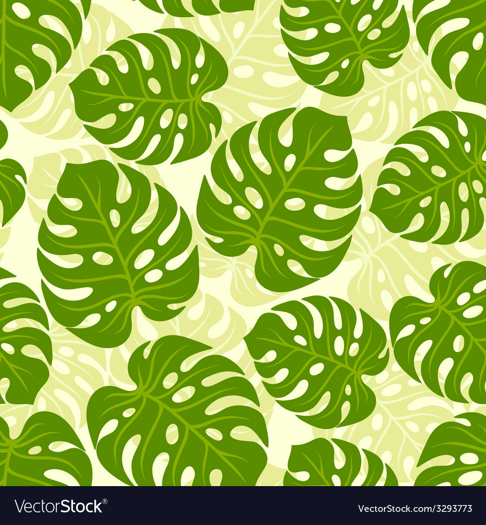 Seamless tropical pattern with stylized monstera vector | Price: 1 Credit (USD $1)