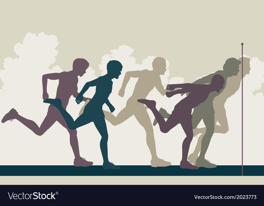 Sprint finish vector | Price: 1 Credit (USD $1)