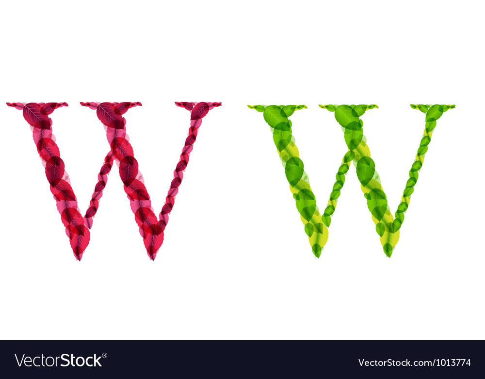 Alphabet letters made from spring green and autumn vector   Price: 1 Credit (USD $1)