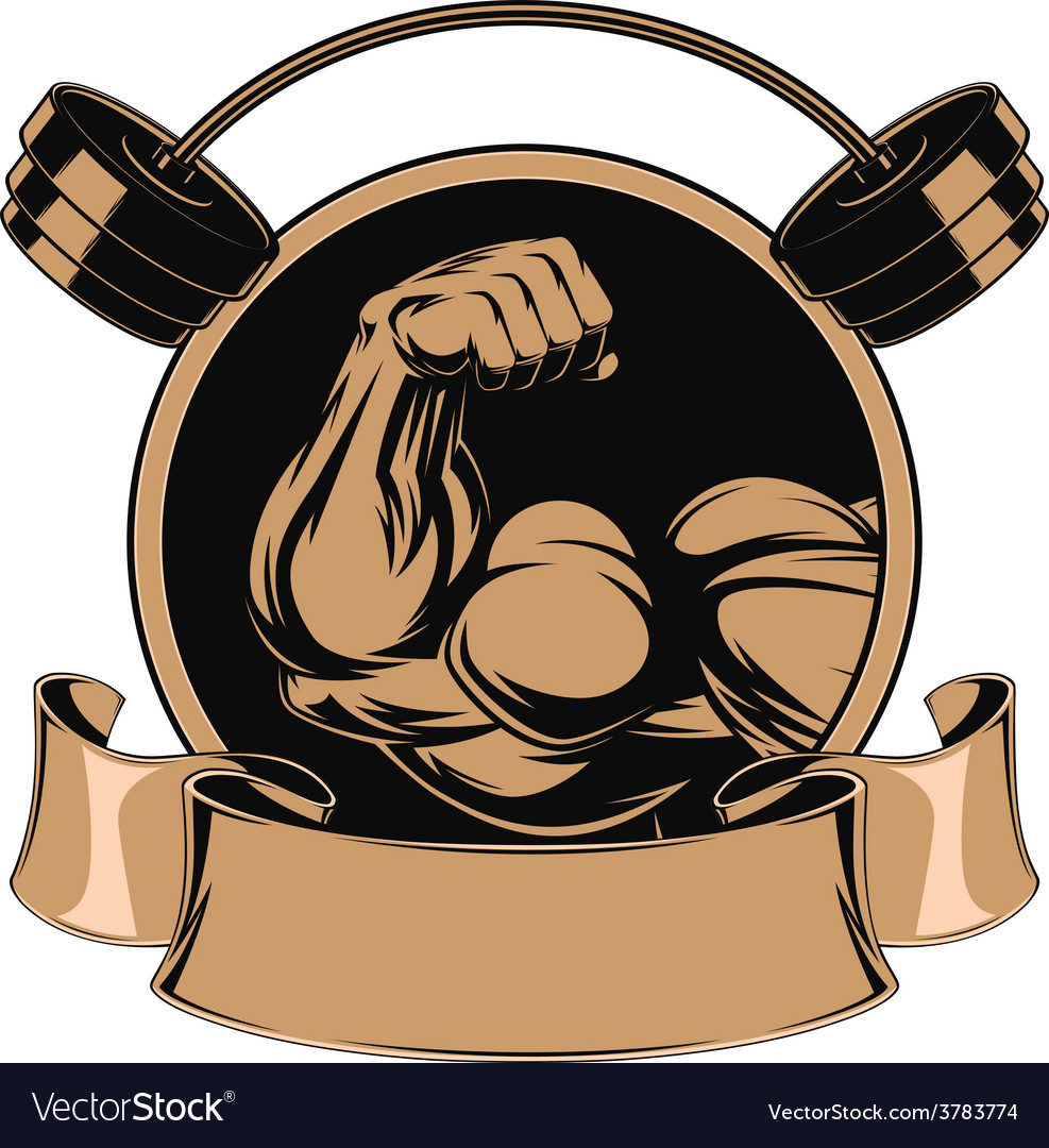 Bodybuilding iron biceps vector | Price: 3 Credit (USD $3)