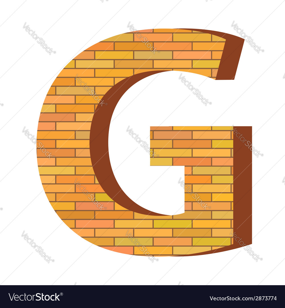Brick letter g vector | Price: 1 Credit (USD $1)