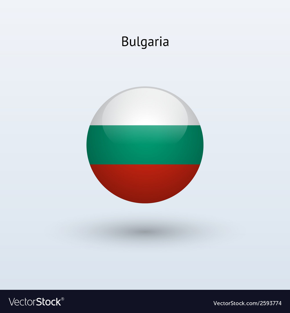 Bulgaria round flag vector | Price: 1 Credit (USD $1)