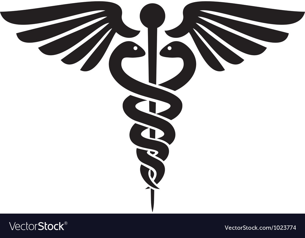Caduceus medical symbol vector