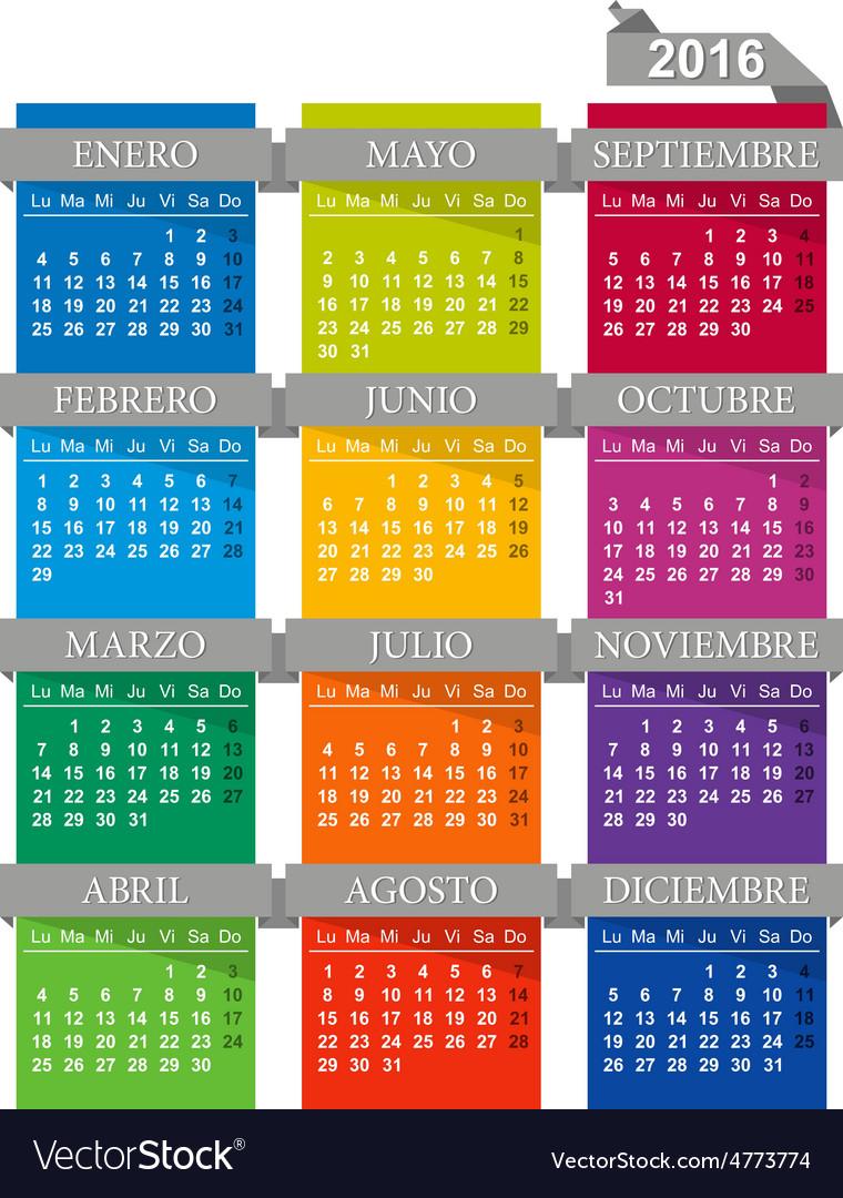 Calendar 2016 vector   Price: 1 Credit (USD $1)