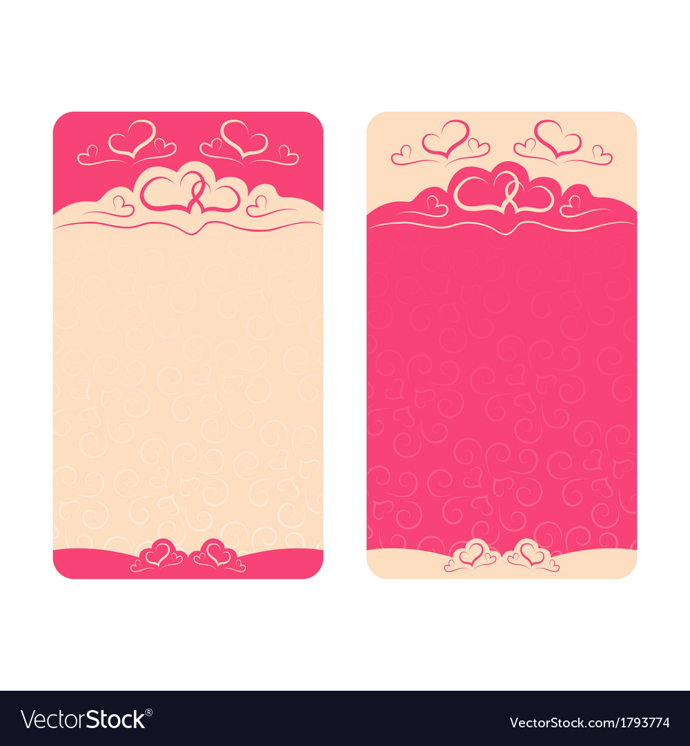 Card happy valentines day and wedding day vector | Price: 1 Credit (USD $1)