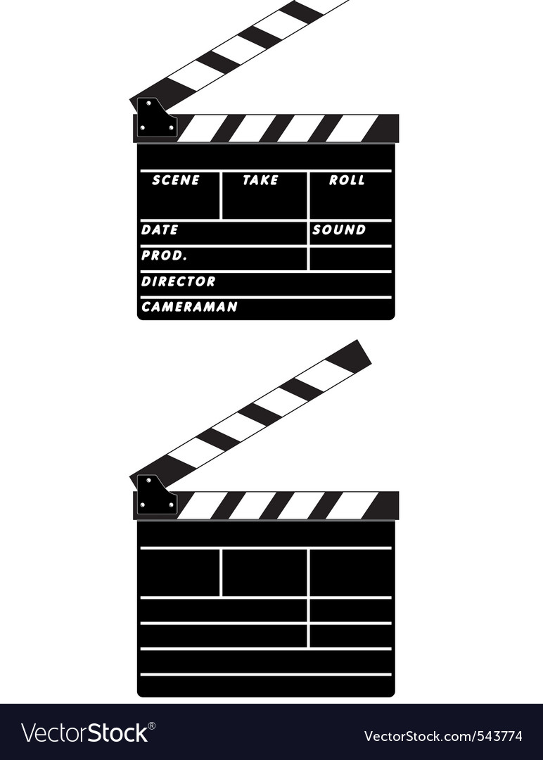 Cinema clapboards vector | Price: 1 Credit (USD $1)