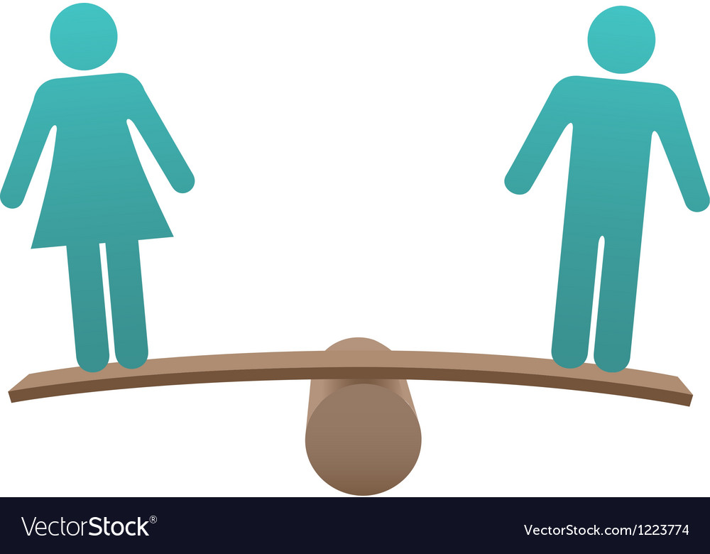 Equal male female sex equality balance vector | Price: 1 Credit (USD $1)
