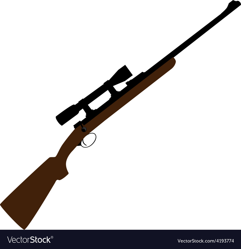 Hunting rifle with sight vector | Price: 1 Credit (USD $1)