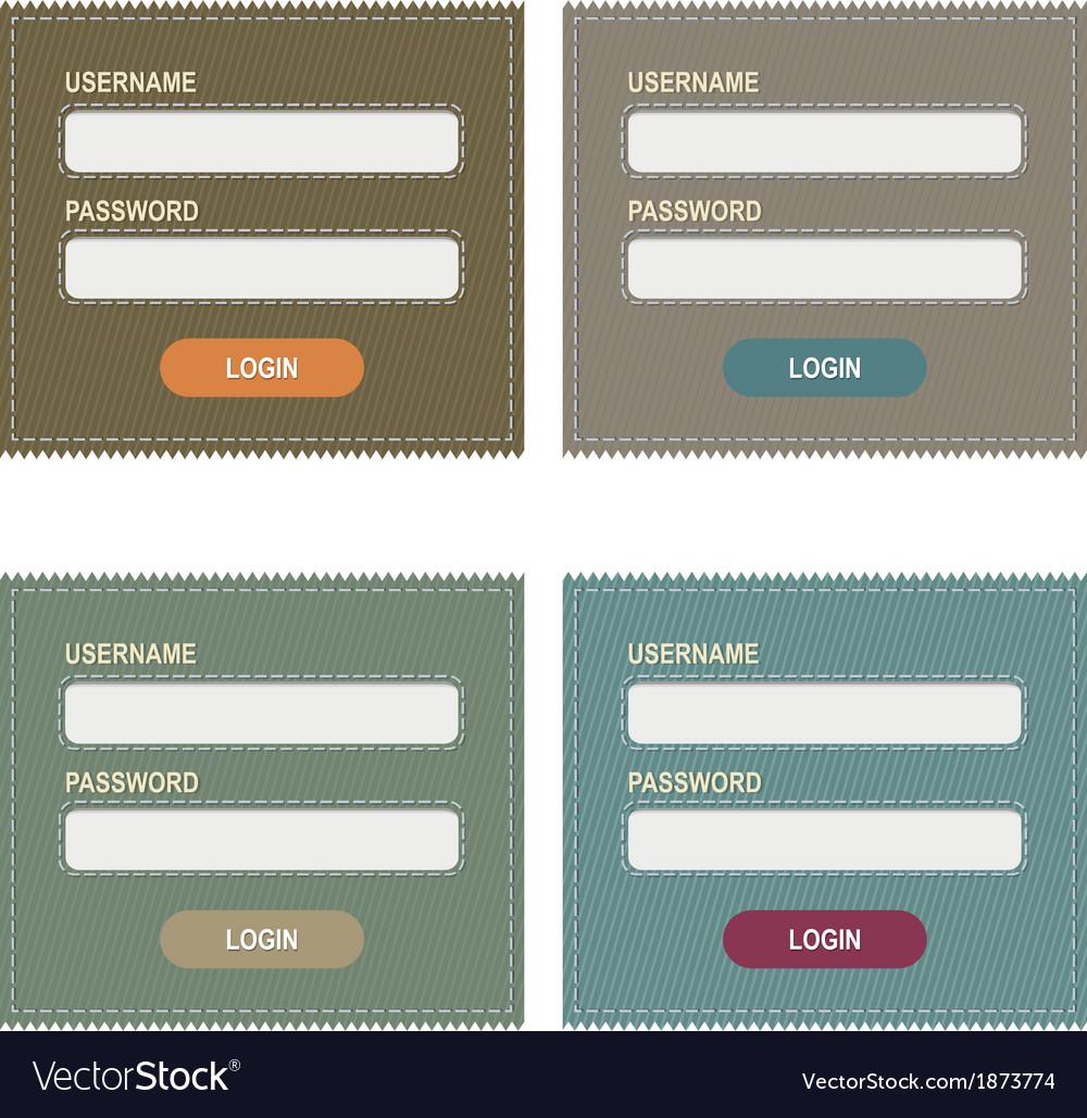 Login form vector | Price: 1 Credit (USD $1)