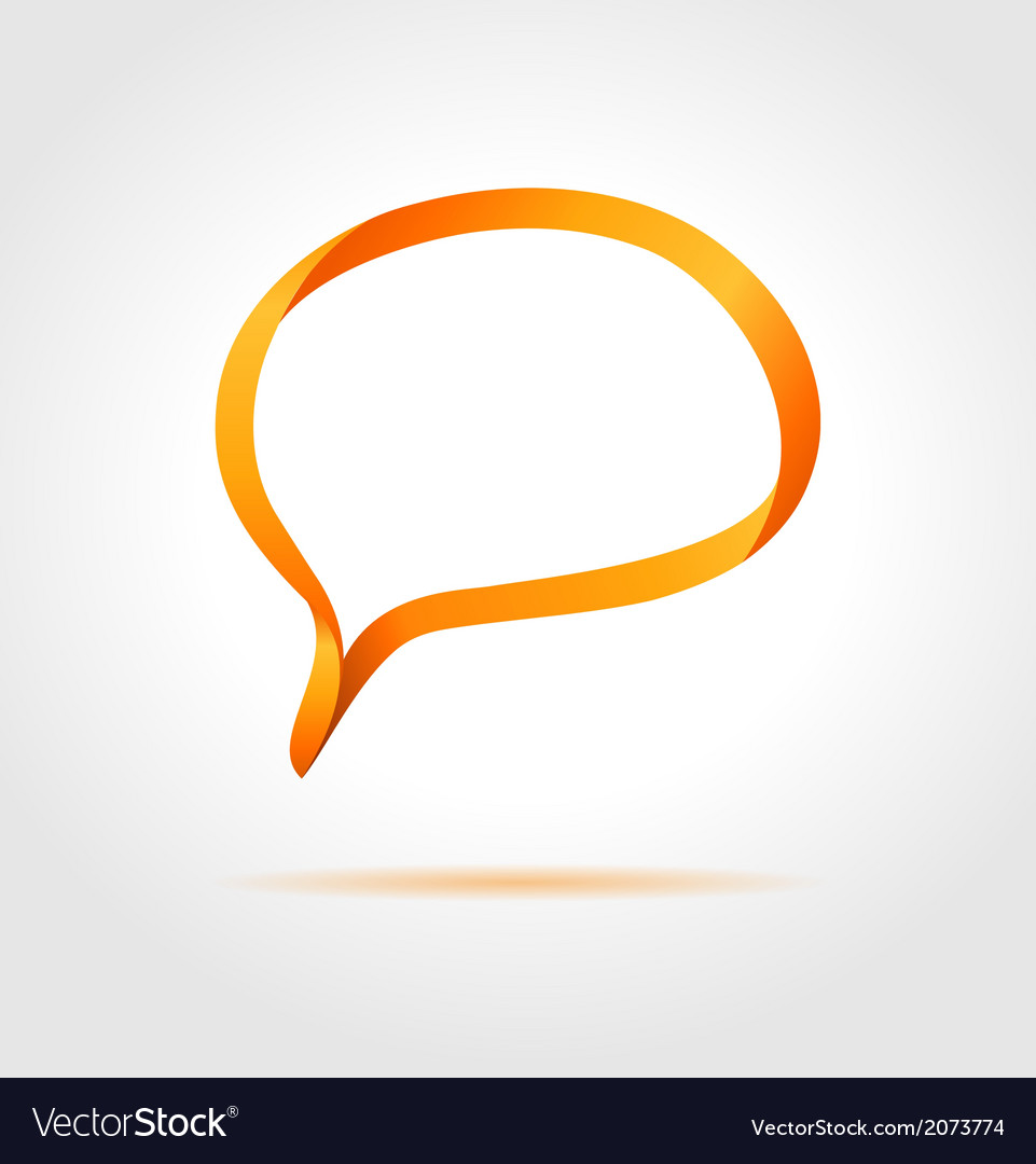 Oval orange speech bubble made from bended lines vector   Price: 1 Credit (USD $1)