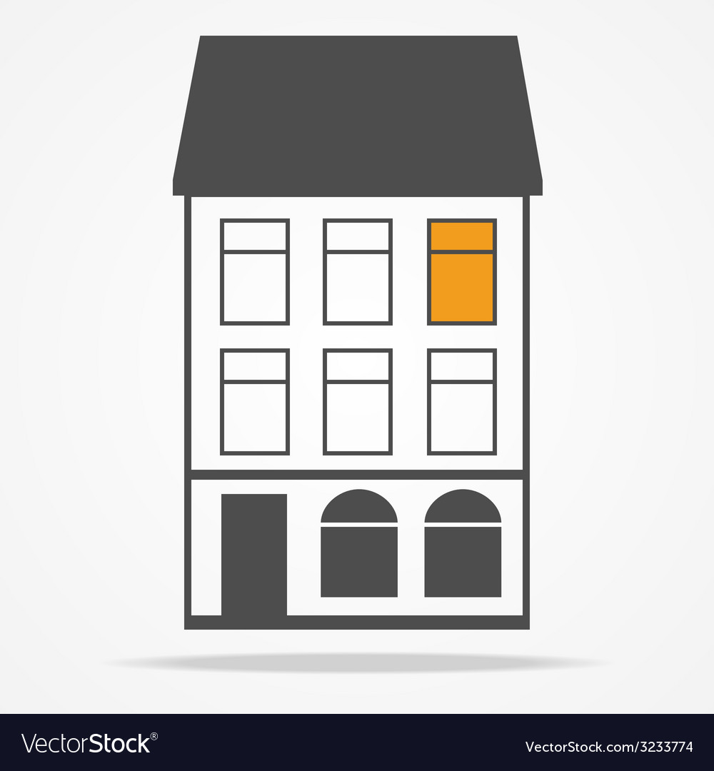 Two old houses with mansard roofs vector   Price: 1 Credit (USD $1)