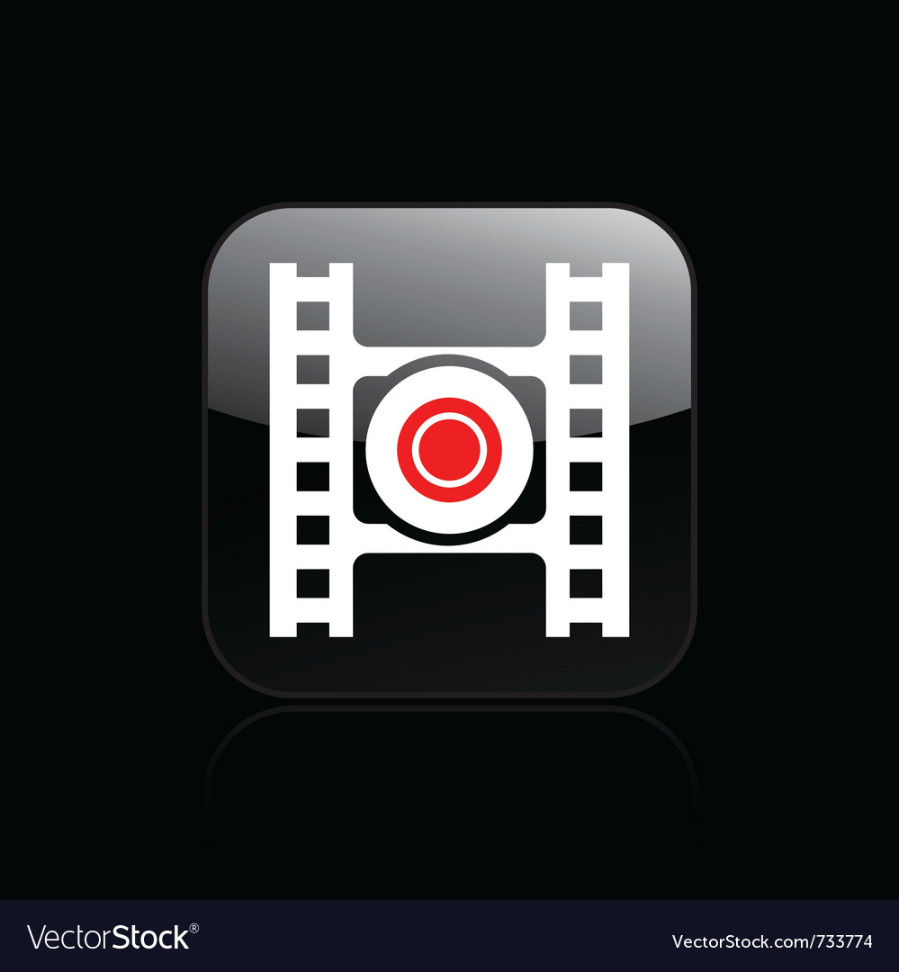 Video recording icon vector | Price: 1 Credit (USD $1)