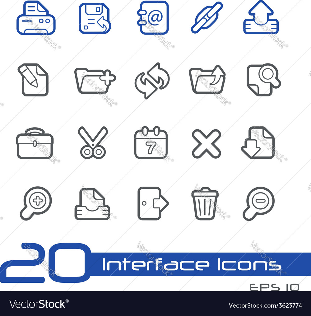 Web interface outline series vector | Price: 1 Credit (USD $1)