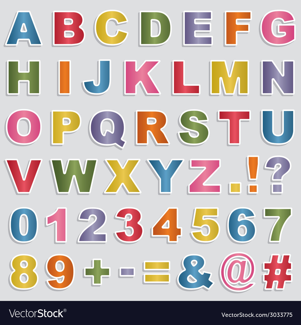 Alphabet stickers vector | Price: 1 Credit (USD $1)