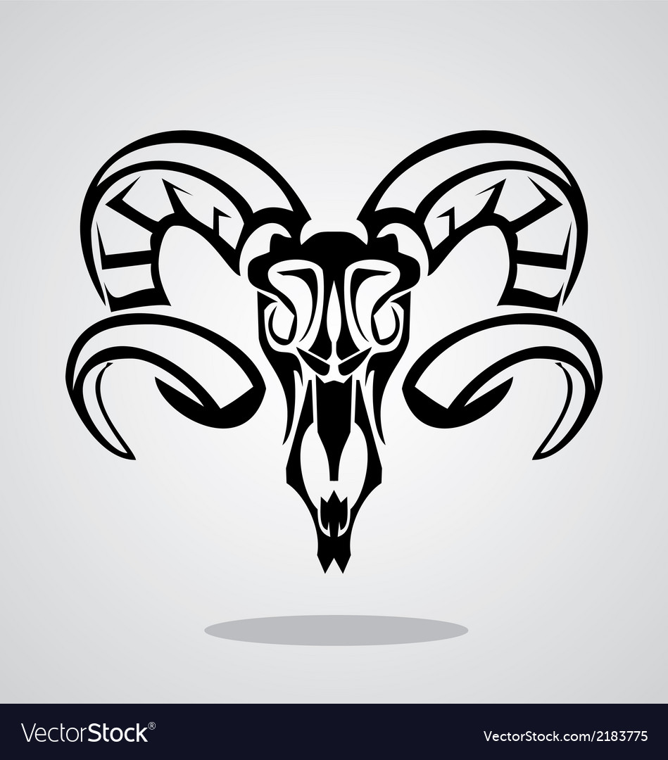 Aries sign tribal vector | Price: 1 Credit (USD $1)
