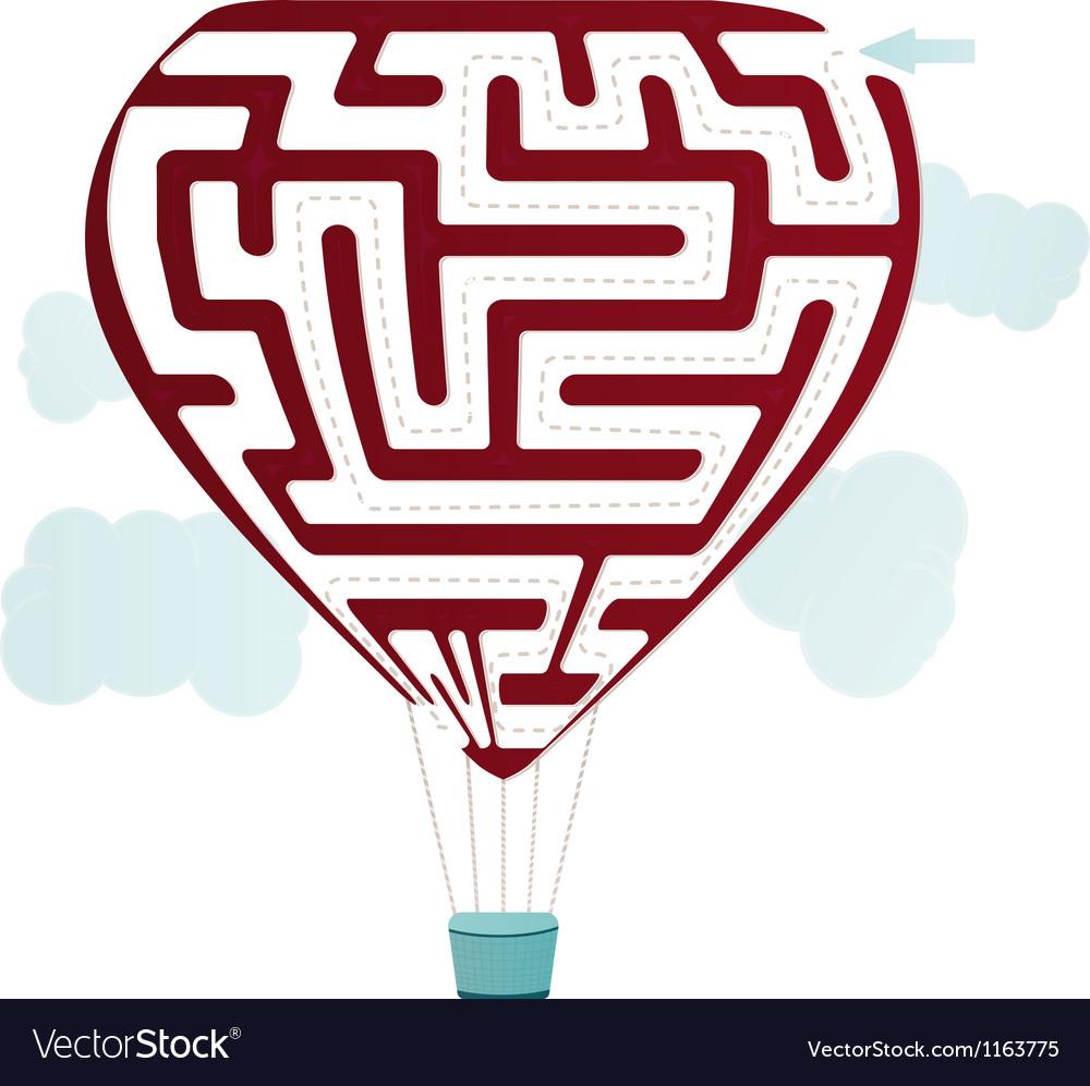 Balloon maze vector | Price: 1 Credit (USD $1)