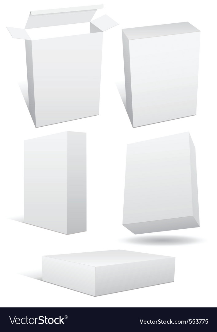 Blank boxes vector | Price: 1 Credit (USD $1)